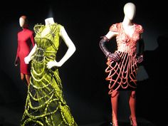 I wouldn't wear this. But colours fabulousness! Jean Paul Gaultier exhibition at Musee des beaux-arts de Montreal.