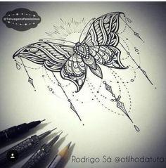 Ideas tattoo butterfly mandala tatoo for 2019 Trendy Tattoos, Cute Tattoos, Unique Tattoos, Leg Tattoos, Beautiful Tattoos, Flower Tattoos, Body Art Tattoos, Tattoos For Guys, Sleeve Tattoos