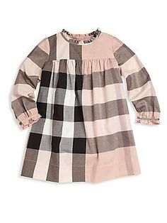 Burberry Baby's & Toddler's Girl's Pippie Check Dress - Antique Pi