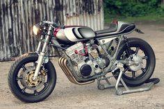 beautifull, creative, design, engine, industrial, machine, motorcycles,Yamaha XS750 custom by Spirit of the Seventies