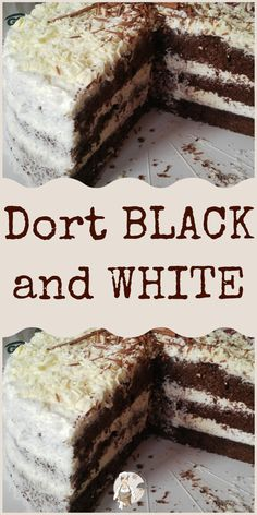 Dort BLACK and WHITE Black And White, Desserts, Food, Black White, Blanco Y Negro, Meal, Deserts, Essen, Hoods