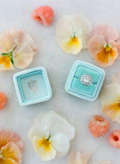 Dazzling round cut halo engagement ring: http://www.stylemepretty.com/2015/09/24/dreamy-pastel-wedding-inspiration/ | Photography: Jose Villa - http://josevilla.com/