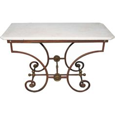 Charmant 19th C. French Bakeru0027s Table