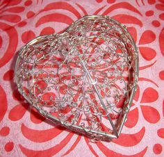 Silver Heart Basket by DayJahView on Etsy, $18.00
