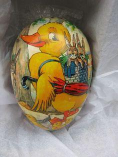 Old Vintage German Easter Egg PAPER MACHE: