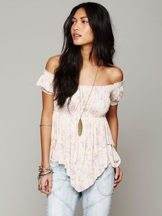 Free People Carrie Off Shoulder Tee, $78.00