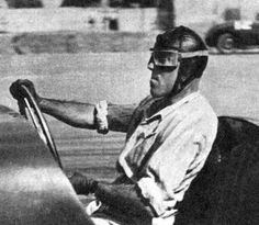 il Maestro Tazio Nuvolari. - Don't worry about seat belts, Just roll up your shirt sleaves and hang on!