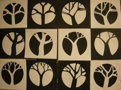 positive and negative tree forms - would make more complex by making tree abstracted to interesting branching shapes - look at Mondrian's trees - yr 7-8