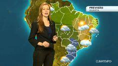 Previsão Brasil - Muita chuva no centro-sul do país