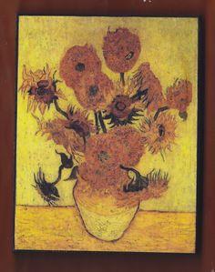 Van Gogh,Sunflowers F.457, replica of the 4th version, Sompo Japan Museum of Art, Tokyo, Japan.FREE SHIPPING. Van Gogh,Sunflowers F.457, replica of the 4th version, Sompo Japan Museum of Art, Tokyo, Japan.FREE SHIPPING 10x13x2 cm 3.9x5.1x0.8 inches FREE SHIPPING.