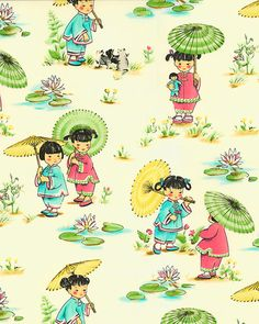My sister used this fabric to make a diaper bag for my niece who was adopted from China, I think it's just lovely.