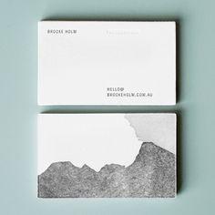 brooke holm business cards - designed by @marcushollands + @Jasmine Hurst, letterpressed by @Saint Gertrude High School