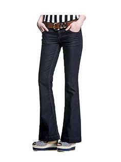 521500274937 Womens High Waisted Stretch Denim Jeans Black 14 -- Find out more about the  great