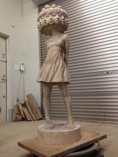 A criação das esculturas de Yoshitoshi Kaenemaki