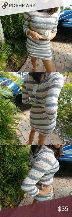 Long sleeve knit. Striped cardigan Amazing quality made in USA From blossom collection You can carry this piece all year in many ways and forms Sweaters Cardigans