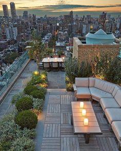 "82 Likes, 6 Comments - @onekindesign on Instagram: ""New York Obsession - Central Park West Rooftop Terrace. Design By:Edmund Hollander Landscape…"""