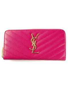 Shop Saint Laurent 'Monogramme' zip around wallet in Luisa World from the world's best independent boutiques at farfetch.com. Shop 300 boutiques at one address.
