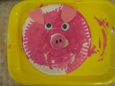 pig plates- perfect craft for P week!