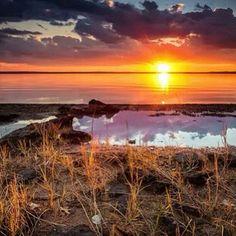 Sunset at Sam Rayburn Lake. Big Sam, Texas, Celestial, Sunset, Outdoor, Outdoors, Sunsets, Outdoor Games, The Great Outdoors