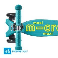 Nowość! Hulajnoga Maxi Micro Deluxe w kolorze Petrol Green to stabilna trzykołowa hulajnoga na której dziecko poprzez balansowanie ciałem w sprytny sposób skręca przednie koła. Idealna jako następczyni hulajnogi Mini Micro albo jako pierwsza hulajnoga dla AktywnegoSmyka. Maxi Micro Deluxe to nowa wersja hulajnogi Maxi Micro charakteryzująca się unikatowym podestem podwyższoną wytrzymałością (do 70 kg) odblaskowymi naklejkami i metalicznym/anodowanym drążkiem. Producent proponuje hulajnogę…