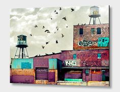 """""""Factory #1"""", Exclusive Edition Aluminum Print by Tim Jarosz - From $69.00 - Curioos"""