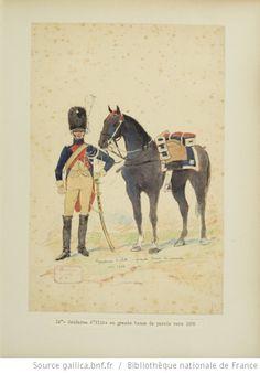 [Grenadiers-gendarmes, gendarmerie d'élite de la garde des consuls et de la garde impériale, 1793-1815 / Notes et aquarelles par E. Fort.] - 28