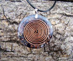 Orgone-Energy Pandantiv Emisferic cu Cuart Fumuriu