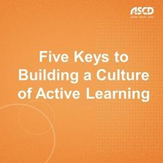 "By Tony Frontier This week, ASCD is focusing on school culture as the highlighted Connected Educator Month (CEM) subtheme for the Educator Professional Development and Learning theme. Find CEM resources on ASCD EDge®. A mission statement that includes the phrase ""all students will become independent, life-long learners"" rings hollow unless all students believe in their capacity to learn and develop skills to learn independently. For this to occur, educators need to be intentional in their…"