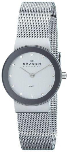 Skagen Women's 358SSSD Silver Dial Mesh Bracelet Watch  Price: $53.50