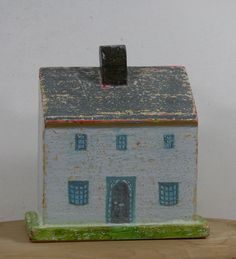 Wooden Cottage, Small wooden house, painted cottage, little wooden house, small painted house, country cottage by WoollyandWoody on Etsy