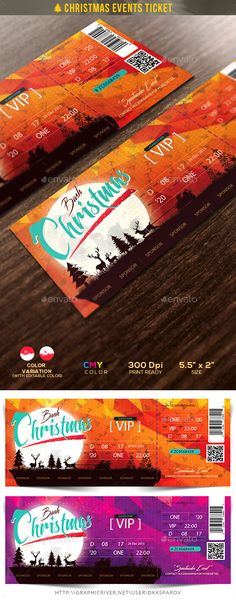 Christmas Events Ticket — Photoshop PSD #xmas #red • Available here → https://graphicriver.net/item/christmas-events-ticket/13340965?ref=pxcr