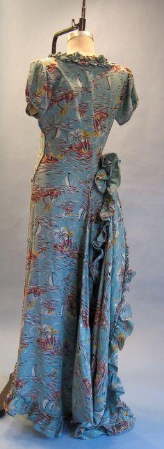 40s Hawaiian wedding gown