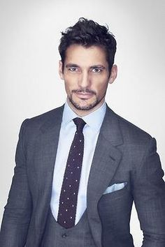 Thom Sweeney Mayfair 2012 Ambassador: David Gandy - Wearing: Grey Plaid 3pc