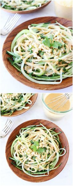Cucumber Noodles with Peanut Sauce Recipe - Love these healthy noodles and the peanut sauce is amazing!