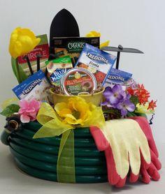 Perfekte Geschenkkorb Ideen für Hobbygärtner  viele Samen für verschiedene Blumen und Handschuhe