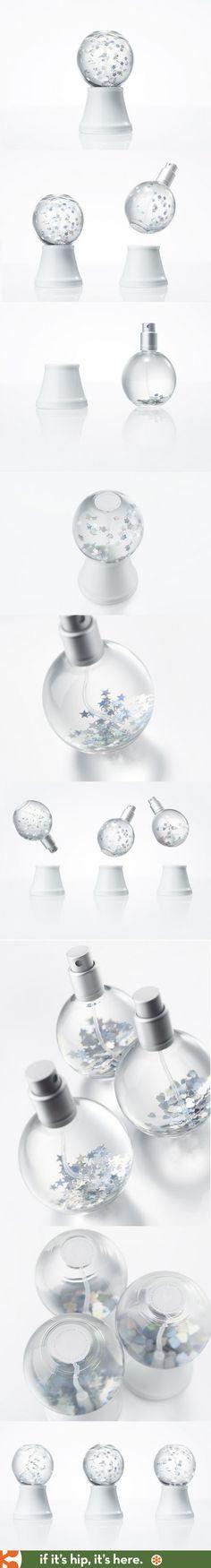 Nendo's cleverly designed Snow Globe perfumes.
