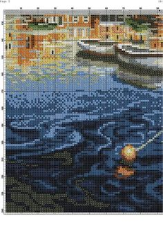 Counted Cross Stitch Patterns, City Photo, Building, Outdoor, Ships, Projects, Frames, Paisajes, Cross Stitch
