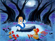 "vintagegal: "" Concept art by Mary Blair for Disney's Alice in Wonderland "" Mary Blair, Disney Concept Art, Disney Fan Art, Disney Mural, Lewis Carroll, Alice In Wonderland 1951, Disney Illustration, Illustrations Posters, Disney Artists"