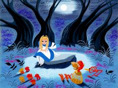 Concept art by Mary Blair for Disney's Alice in Wonderland...