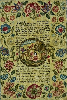 English sampler by 10 year old Sarah Brignell 1b1723ac7
