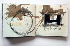 * juanan requena artist sketchbook, artist journal, art journal pages, coll Art Journal Pages, Artist Journal, Art Journals, Voyage Sketchbook, Artist Sketchbook, Fantasy Magic, Buch Design, Visual Diary, Sketchbook Inspiration
