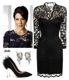 Crown Princess Mary of Denmark by lellelelle on Polyvore featuring Little Mistress and Nicholas Kirkwood