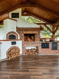 41 Fabulous Outdoor Kitchen Design Ideas Perfect For Summertime - An outdoor kitchen is often referred to as a summer kitchen because they are built outside of the home. Having one is a great place to entertain, espe. Backyard Kitchen, Summer Kitchen, Outdoor Kitchen Design, Patio Design, Backyard Patio, Backyard Landscaping, Rustic Outdoor Kitchens, Kitchen Grill, Backyard Ideas