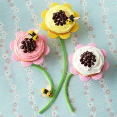 Fun Flower Cupcakes