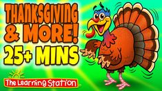 FREE! Enjoy our music video collection of popular Thanksgiving songs and dances. These songs are ideal for brain breaks, morning meeting, group activities or those bad weather days children can't go out to play. These songs are ideal for preschool, kindergarten and lower elementary. They are also great for family performances!  #Thanksgiving