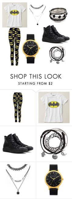 """""""batman"""" by miss-perfiet on Polyvore featuring Converse and Forever 21"""