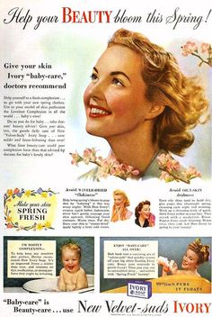 Ivory Soap, May 1942. #vintage #1940s #beauty #ads