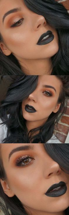 how to pull off black lipstick