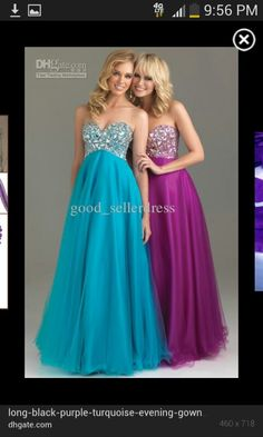 I absolutely love these dresses!!! Purple dress teal dress turquoise dress