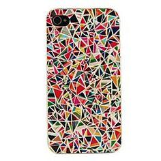 Cassa dura del PC multicolore Geometria Motivo per iPhone 4/... – EUR € 0.99